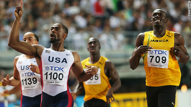 Gay will be hoping to repeat his performance at the 2007 IAAF World Athletic Championships in Osaka, Japan where he crossed the line first in the 200m ahead of Usain Bolt.