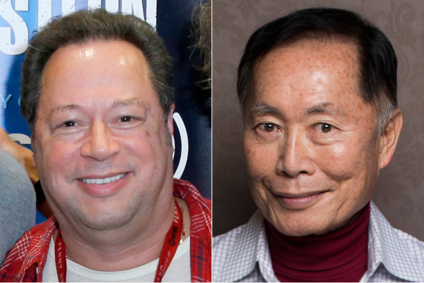 Marvel Entertainment and George Takei will receive Vanguard Awards from the Los Angeles LGBT Center. Pictured are Marvel chief creative officer Joe Quesada, left, and Takei. (: Joe Scarnici/Getty Images / Jay L. Clendenin/Los Angeles Times)