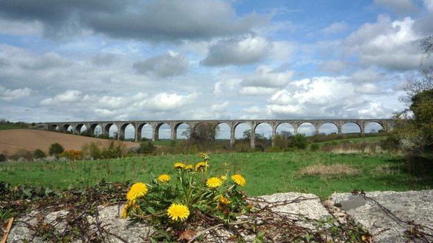 The Craigmore viaduct outside Newry, photographed by Evan Connolly from Coleraine.