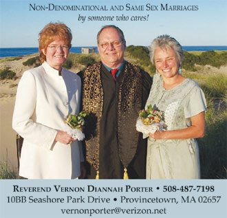 Gay and Lesbian Weddings in Provincetown, MA by Rev Vernon Porter