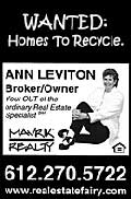 Ann Leviton, Broker with Mavrik Realty in South St Paul, MN